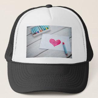 Heart Card Pastels Figure Valentine's Day Love Trucker Hat