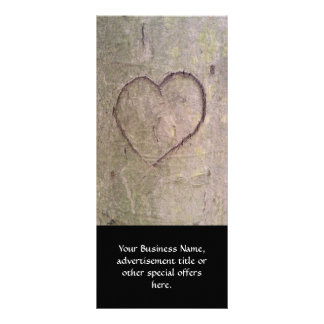 Heart Carved in a Tree Customised Rack Card