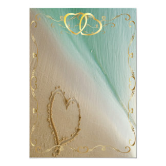 Heart Carved In The Sand Invitation4 Card