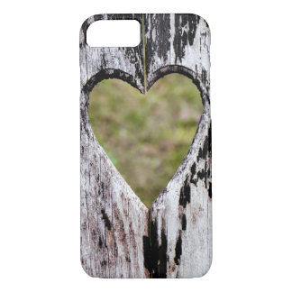 Heart Carved Wood iPhone 8/7 Case
