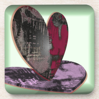 Heart Central Drink Coasters