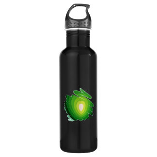 Heart Chakra Green on Black Water Bottle 710 Ml Water Bottle