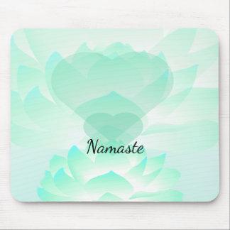 Heart Chakra Lotus Namaste Mousepad