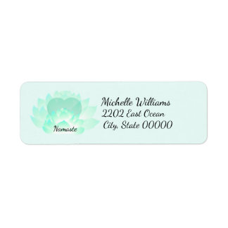 Heart Chakra Lotus Namaste Return Address Return Address Label