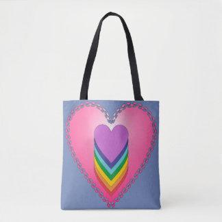 Heart Chakra Shopping Tote Bag