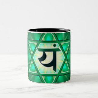Heart Chakra Two-Tone Coffee Mug
