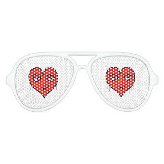 Heart Character Drawing Aviator Sunglasses
