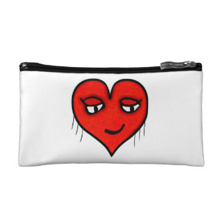 Heart Character Drawing Makeup Bag
