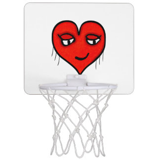 Heart Character Drawing Mini Basketball Hoop