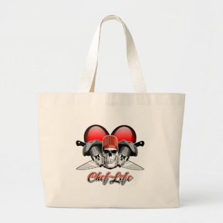 Heart Chef Life: Chef Skulls Jumbo Tote Bag