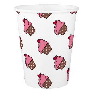 heart cherry chocolate strawberry cupcake paper cup