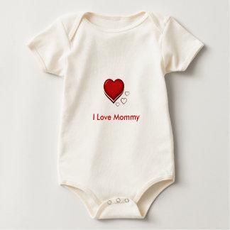 heart_clipart, I Love Mommy Baby Bodysuit