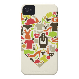 Heart clothes2 iPhone 4 Case-Mate case