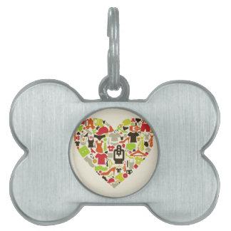 Heart clothes2 pet tag