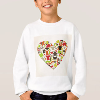 Heart clothes2 sweatshirt