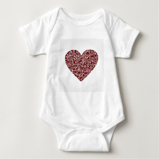 Heart clothes baby bodysuit
