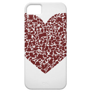 Heart clothes iPhone 5 cover