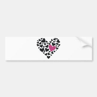 Heart Cloud Bumper Stickers