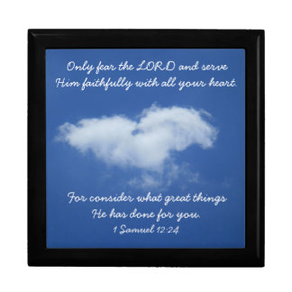 Heart cloud gift box with Scripture from 1 Samuel