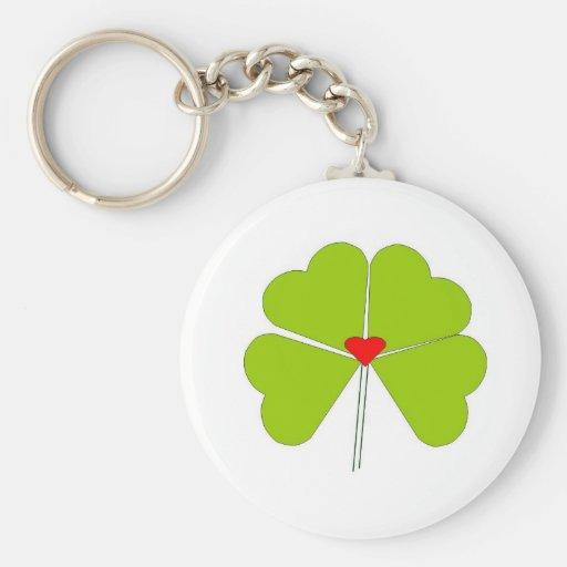 Heart clover keychain