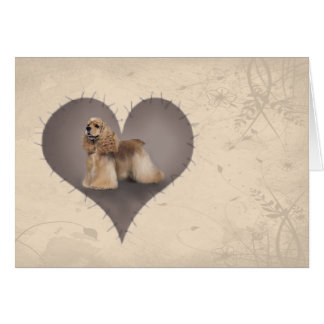 Heart Cocker Spaniel Greeting Card