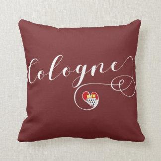 Heart Cologne Pillow, German Köln Cushion