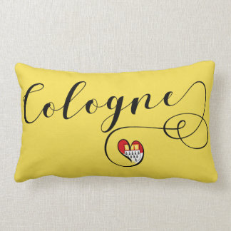 Heart Cologne Pillow, German Köln Lumbar Cushion
