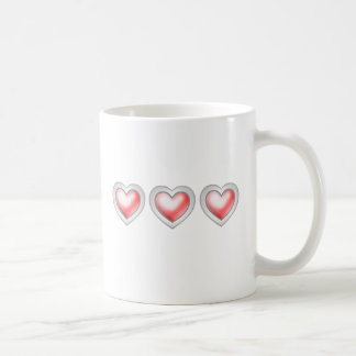 Heart Container trio - Add your own text!! Basic White Mug
