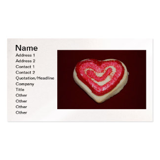 Heart Cookie Business Card