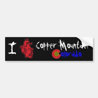 Heart Copper Mountain Colorado bumperflare Bumper Sticker