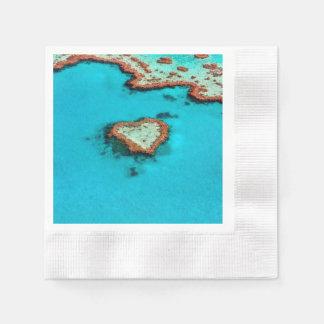 Heart Coral Reef Disposable Serviettes