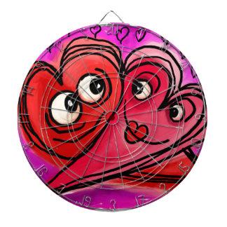 Heart Couple Art Dartboard
