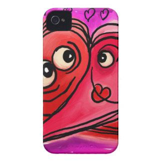 Heart Couple Art iPhone 4 Case-Mate Case