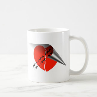 Heart Crack Tire Track Curled up Heart Mug