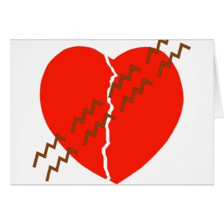 Heart Crack Tire Track Greeting Card