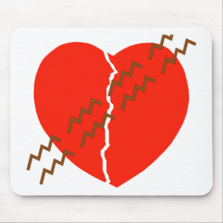 Heart Crack Tire Track Mouse Pad