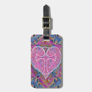 Heart Cross Mandala by Amelia Carrie Luggage Tag