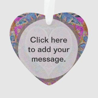 Heart Cross Mandala by Amelia Carrie Ornament