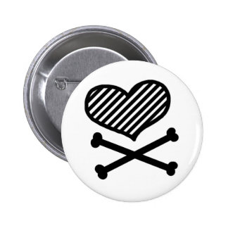 Heart & Crossbones Button