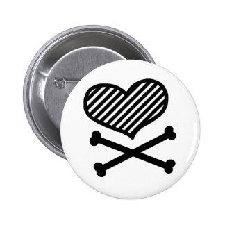 Heart & Crossbones Button
