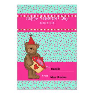 Heart Cupcake-Bear Classroom Card 9 Cm X 13 Cm Invitation Card