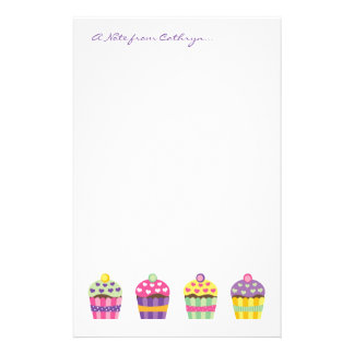 Heart Cupcake Stationery