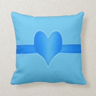 heart custom background color/text/name throw pillow
