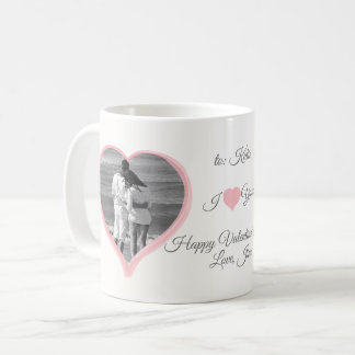Heart Cutout Photo Mug