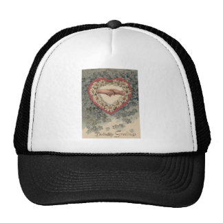 Heart Daisy Forget Me Not Holding Hands Floral Hat
