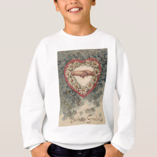 Heart Daisy Forget Me Not Holding Hands Floral Sweatshirt