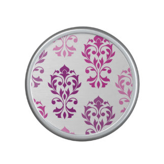 Heart Damask Art I Pinks Plums White Bluetooth Speaker