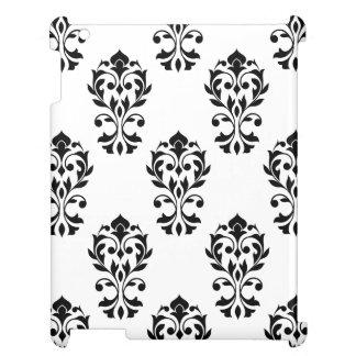 Heart Damask Big Ptn Black on White Case For The iPad 2 3 4