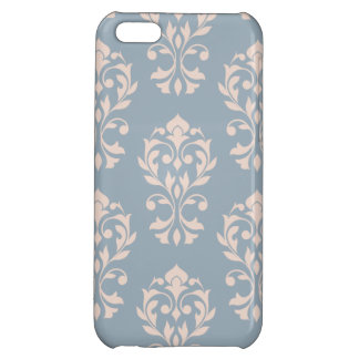 Heart Damask Lg Ptn II Pink on Blue iPhone 5C Cover