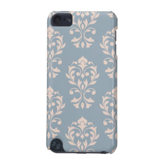 Heart Damask Lg Ptn II Pink on Blue iPod Touch (5th Generation) Case